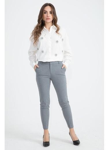 Vpr Moda Kumaş Pantolon  Gri